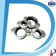Braçadeira de liberação rápida de tubulação de aço inoxidável flexível de alta pressão