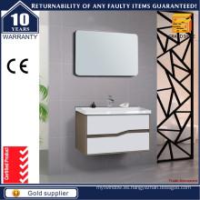 Vanidades curvadas vendedoras calientes del cuarto de baño de la manija de la forma con el espejo