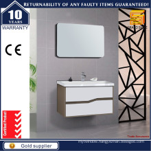 Hot Selling Curved Shape Handle Bathroom Vanities with Mirror