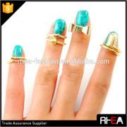 Fashion Jewelry Gold Nail Rings,Nail Art Ring,Finger Nail Rings