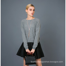 Lady′s Fashion Cashmere Blend Sweater 17brpv118