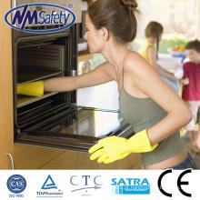 NMSAFETY luva de látex à prova d 'água / luvas de lavagem / látex amarelo luva de uso doméstico