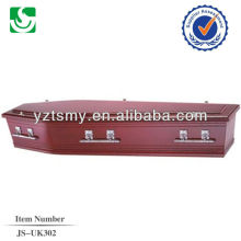wholesale European style oak human coffin made in China