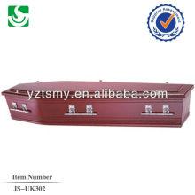 Venda por atacado caixão humana estilo europeu carvalho, feito em China