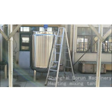 Stainless Steel Electric Heating Paint Mixing Tank With Agitator
