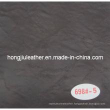 Hot Sale of Black Crack Decorative Leather