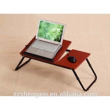 Simple pliant en métal tablette en bois en bois