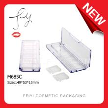 Rectangle Transparent Empty Custom Eyeshadow Packaging