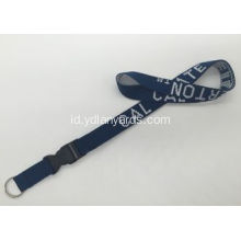 Logo Customized Polyester Jacquard Weave Lanyard