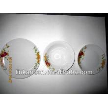 Haonai 12pcs popular exportó placa de cena de cerámica establece