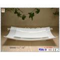 Weiße große keramische Teller mit billigem Preis