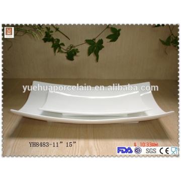 Platos de cena de cerámica de gran tamaño blanco con precio barato
