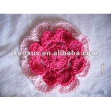 Flor del ganchillo del knit para el ornamento infantil del pelo del bebé