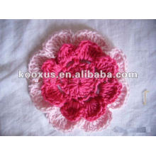 knit crochet flower for infant baby hair ornament