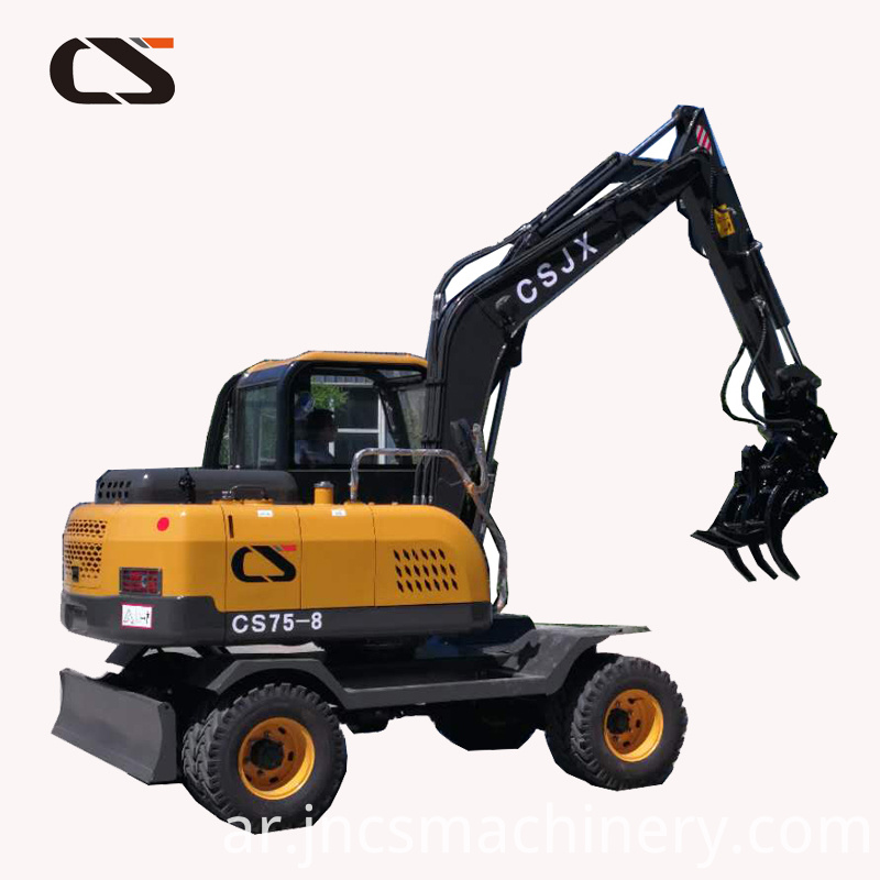 four wheel drived 6T/7Ton wheel excavator