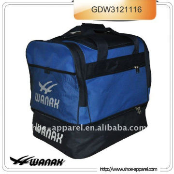 Football bag with folding botton for soccer