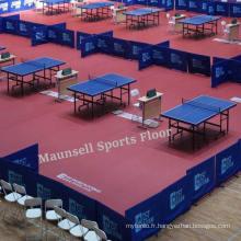 Plancher de tennis de table en plastique avec Ifff / Bwf / CE Standard