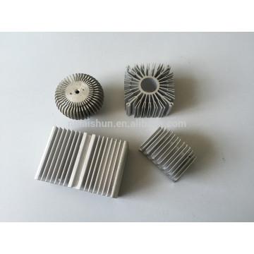 Anodizado disipador de aluminio de extrusión