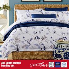Hoja de cama impresa 40S 200TC para el uso del hotel / del hogar