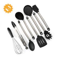 amazon top seller 2018 8 piece stainless silicon kitchen utensils set