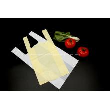 Bolsa de compras de camiseta de plástico biodegradable