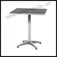 Table à manger en aluminium pour salle à manger en aluminium (SP-AT326)