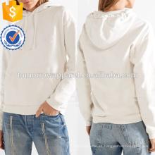 De lana impresa de gran tamaño de algodón con capucha Top OEM / ODM Fabricación de mujeres de moda al por mayor Apparel (TA7019H)