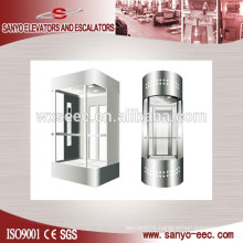 All Glass Square Panoramic Elevator Lift
