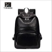 2016 elegante mini mochila de couro para homens