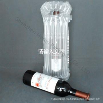 Botella de vino empaquetado bolsa de aire de la columna