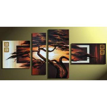 Высокое Качество Группа Искусство Пейзаж Картина Маслом