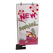 L type metal hook standing poster display stands