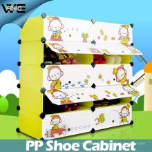 Le support imperméable de chaussure de boîte de rangement de chaussure de beaux meubles d'enfants