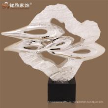 Hogar y jardín accesorios decoración suelo decorativo polyresin electroplated suerte nube escultura