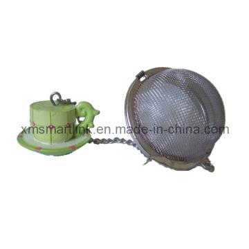 Polyresin Sculpture Tea Cup Decor Tea Filter Cadeaux