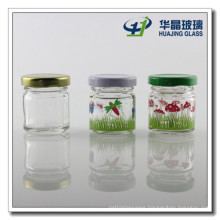 Decal 30ml Round Mini Mason Glasss Jars Glass Jam Jar with Lid