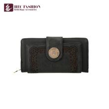HEC Custom Retro Style Woman Purse PU Leather Lady Coin Carteras