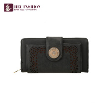 HEC Custom Retro Style Woman Purse PU Leather Lady Coin Wallets