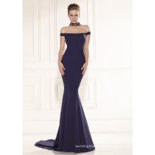off The Shoulder Mermaid Satin Evening Dress