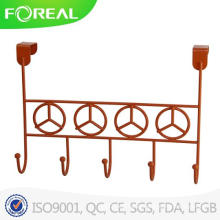 Powder Coating Metal Wire Over Door 5 Hook