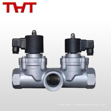 Valve solonoïde d'irrigation de l'eau de 12 volts de 3 manières avec l'adapteur
