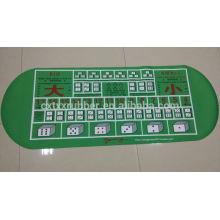 gambling rubber table mat, polyester gambling rubber mat