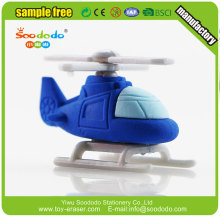3d helicopter shape kids toy eraser