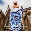 Hot sale 100% cotton Australia design Mandala Round beach towels BT-328 China Factory
