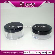 Round Plastic Cosmetic Jar, Hot sale 2015 nouveau design 10g 20g poubelle compacte en poudre pour soins de la peau