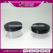 Frasco cosmético plástico redondo, Venda quente 2015 novo design 10g 20g recipiente de pó compacto vazio para cuidados da pele