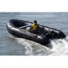 Gros 26FT canot de sauvetage, canot pneumatique, aviron pêche bateau, bateau de Transport