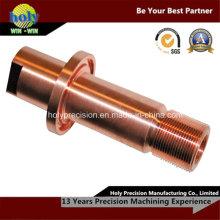 Медь CNC Повернутые части, котор подвергли механической обработке части