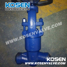Válvula de globo de acero forjado sello de presión 2500lb