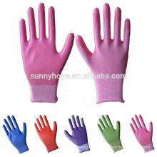Sunnyhope 13G gant de travail couvert de nitrile coloré à bas prix